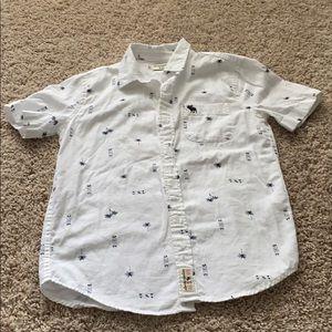 Super cute boys Abercrombie kids button up shirt